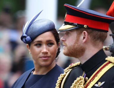Prince Harry and Meghan Duchess of Sussex during the Trooping the Colour Queens birthday parade