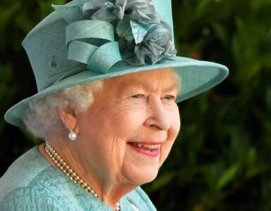 The Queen watches Trooping the Colour 2020