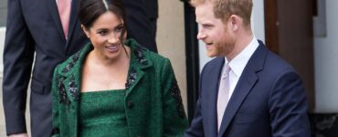 Prince Harry and a pregnant Meghan Markle